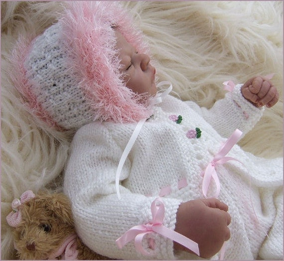 Free Teddy Knitting Patterns : Baby Knitting Pattern Girls or Reborn Dolls Knitting Pattern