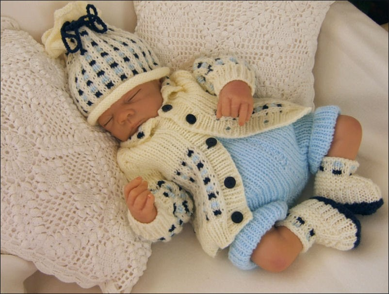 Knitting Patterns For Boys : Baby Knitting Pattern Toby Baby Boys or Girls Download PDF