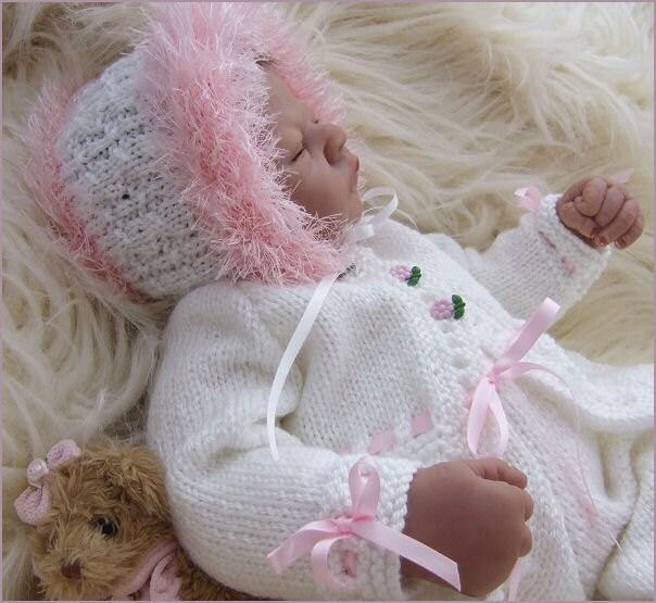 Knitting Patterns Reborn Baby Dolls : Baby Knitting Pattern Girls or Reborn Dolls Knitting Pattern
