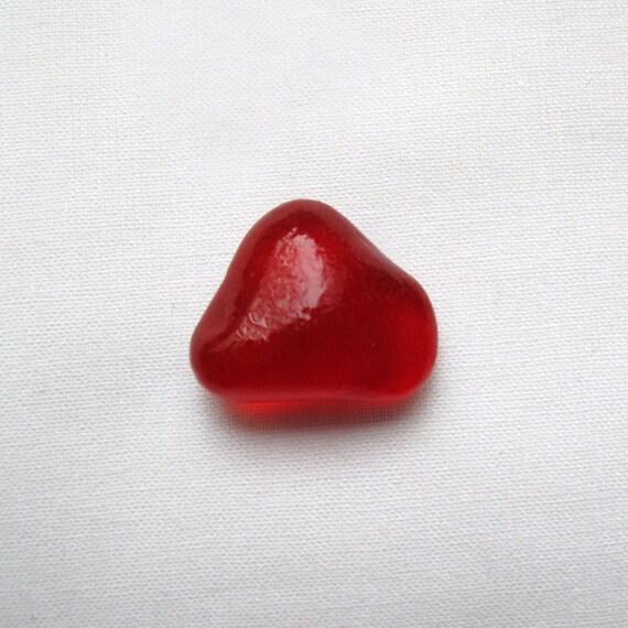 English Sea glass - Bright red - lot DC 039