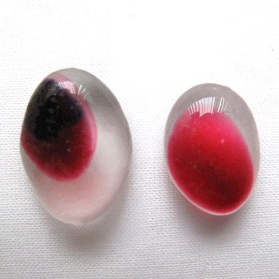 Multi sea glass Pink  - Lot DC080