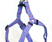 Large Step In Dog Harness - Purple Flowers