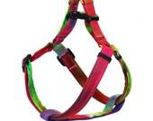 Medium Step In Dog Harness - Tie Dye