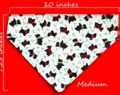 Medium Pet Bandana - Christmas Scotties - Free Shipping