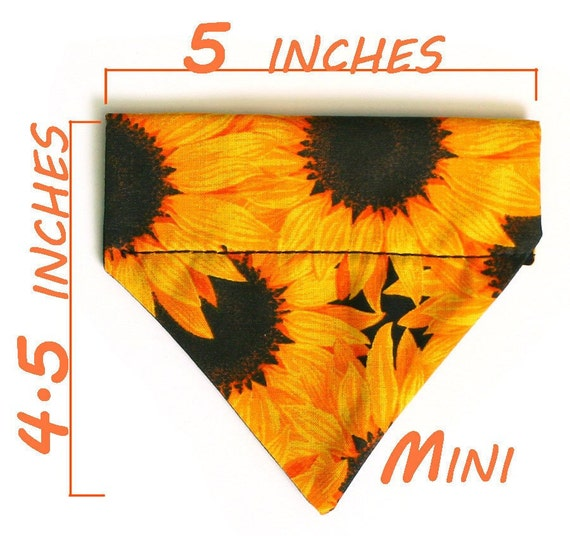 Mini Pet Bandana - Sunflowers - Free Shipping