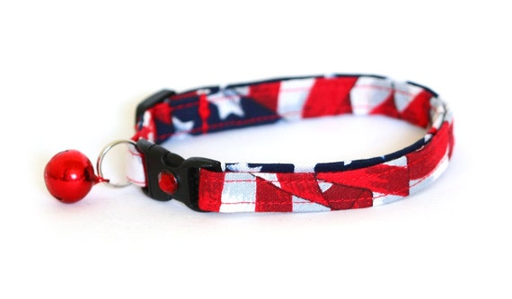 Cat Collar - American Flag - Large Size Collar