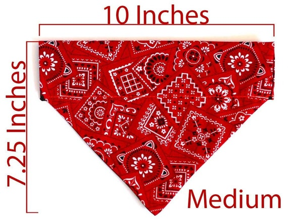 Medium Pet Bandana - Red Paisley - Free Shipping