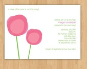 Blooms Baby Shower Invitation/Bridal Shower Invitation - Modern Simple Flowers