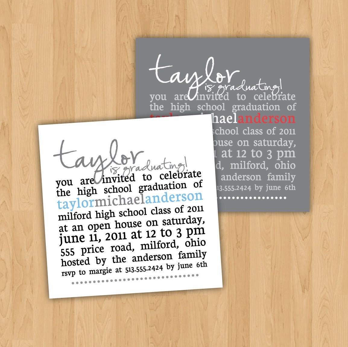 After High School Graduation Quotes: Graduation Party Invitation Square Party By Kindlyreply On