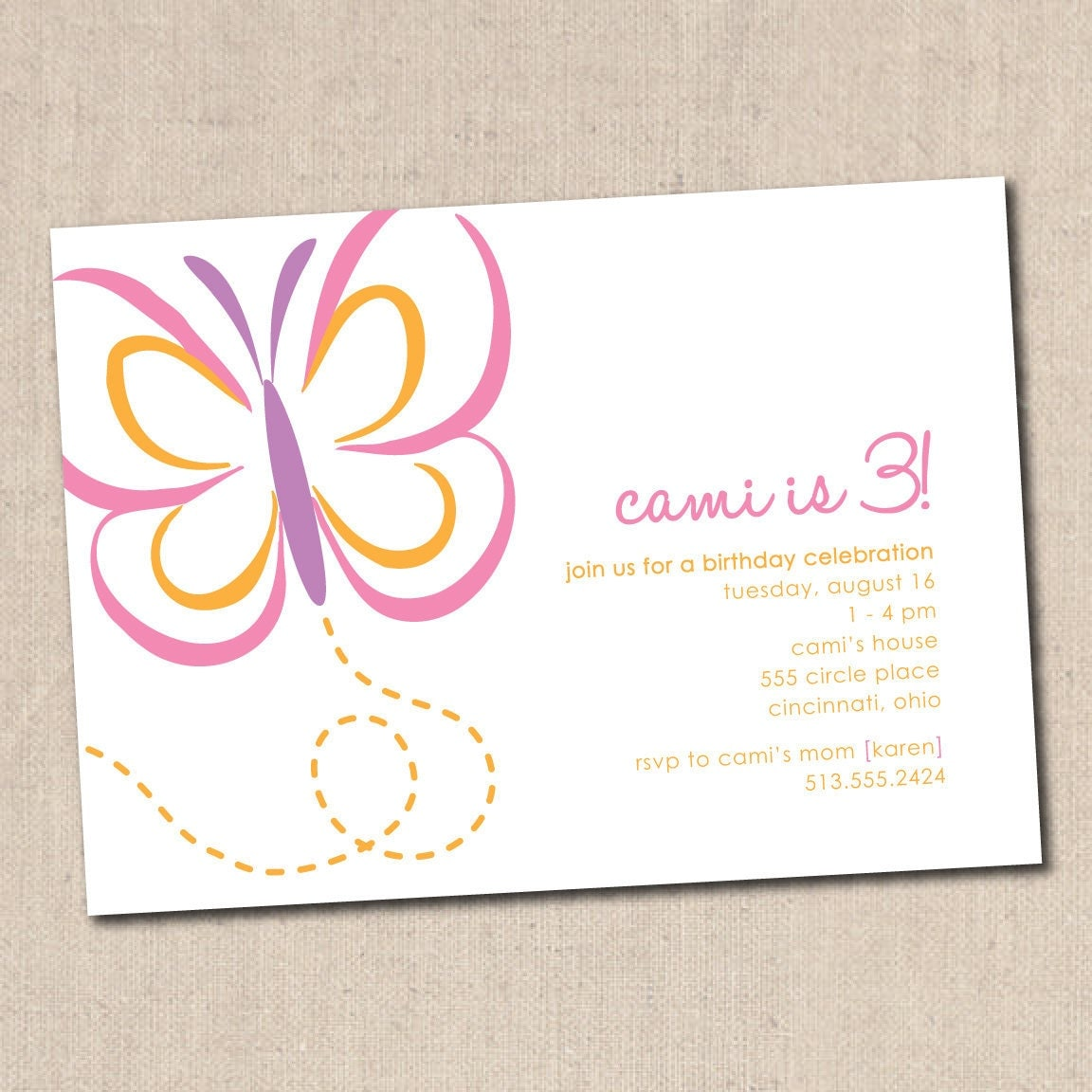 Butterfly Birthday Party Invitation – Butterfly Birthday Party Invitations