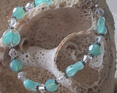 Bracelet Delicate Sea Blue Coin Givre and Pacific Opal