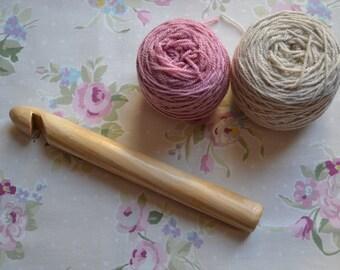 25mm Handmade Wooden Crochet Hook
