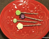 Bobby Pin flower - Set of 4