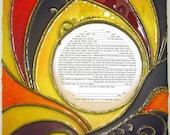 Ketubah Frame - Royal Sunrise, handcast paper