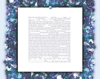 Ketubah - Floral Ocean, personalised potpourri series