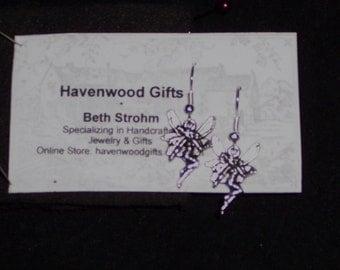silver wire fairy earrings no s/h
