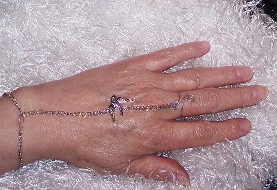 Silver bird slave bracelet