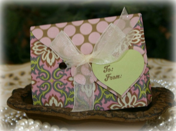 Beautiful Gift Card Holder Box - FREE Shipping - Birthday, Wedding, Baby Shower Gift Bag, Party Favor or Gift Wrap, by handmadewithlove13
