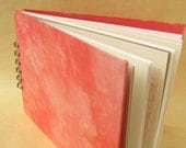 Coral Pink Journal with Mixed Paper Pages