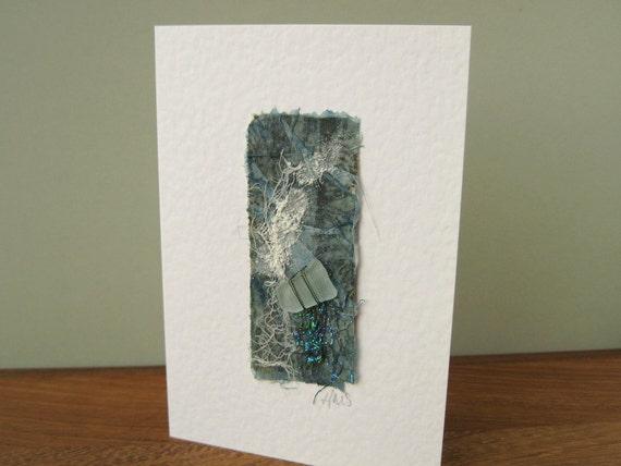 Seashore Art Handmade Card with Sea Glass SG1203