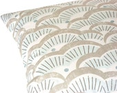 Tundra pale blue, dusty blue, taupe, off white, 16x16 pillow cover, cushion cover, decorative pillow, throw pillow, designer pillow