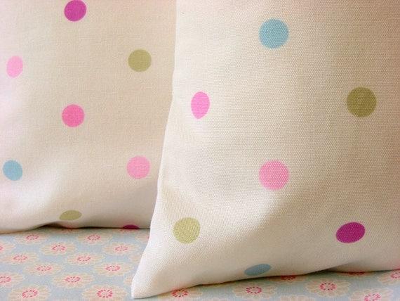 Spot to spot pink 16 inch handmade cushion pillow cover