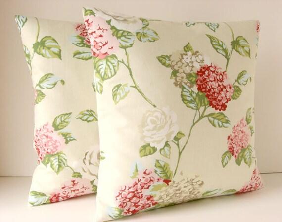 Throw pillow cover - 16x16 pillow cover - English garden cream