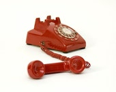 Retro Red Rotary Western Electric Phone