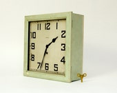 Waterbury Eight Day Office Clock - Green, Milk Paint