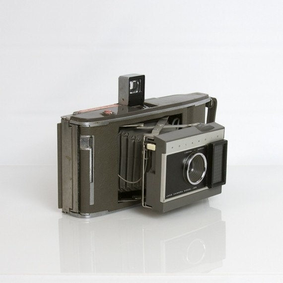 Camera - Polaroid, Land Camera, Model J66, Vintage