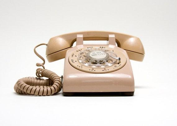 Rotary Phone - Beige, Western Electric, Vintage