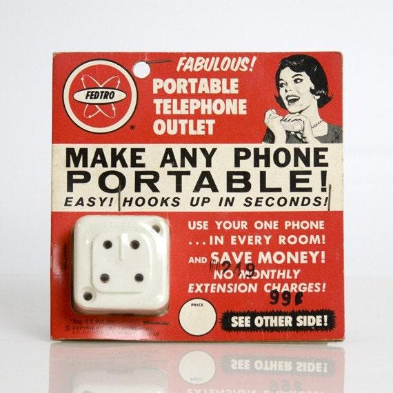Two 1964 Fedtro Portable Telephone Plugs