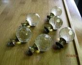 Vintage Glass Dresser or Cabinet Pulls