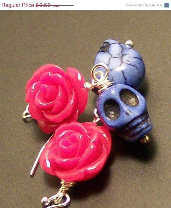 Skull Sale Halloween Sugar Skull Jewelry Skull Earrings Purple-4736