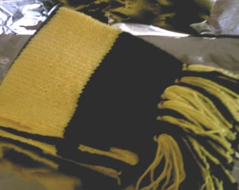 Hufflepuff Inspired Hand Knitted Scarf