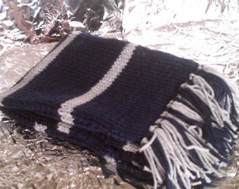 Ravenclaw Inspired Hand Knitted Scarf
