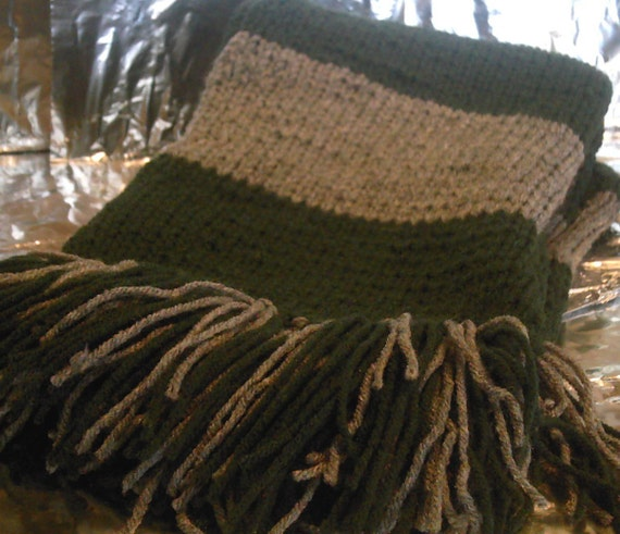 Slytherin Inspired Hand Knitted Scarf - Custom Order