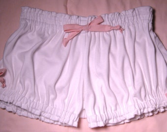 Womens Bloomers, Knit Tee Fabric, Adult Bloomers, Size Medium-Large