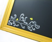Bird on a Wire - Vintage Painted Frame Turned Chalkboard
