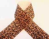 1 Yard 1-1/2 inch Leopard print Grosgrain Ribbon LP1