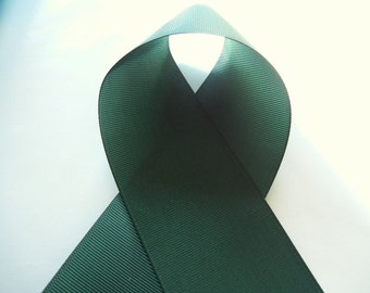 Hunter Green 1 1/2 inch Solid Grosgrain Ribbon - Choose 1 or more yards - Hairbow Supplies, Etc