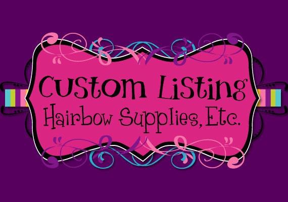 Custom Listing for Sonya
