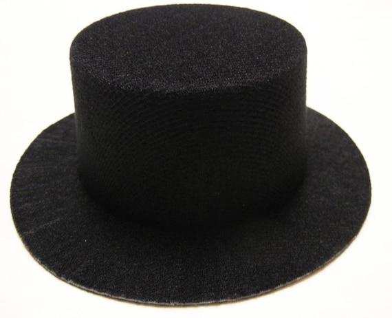 9 Felt Mini Top Hats - - 5 black, 2 white, 2 pink