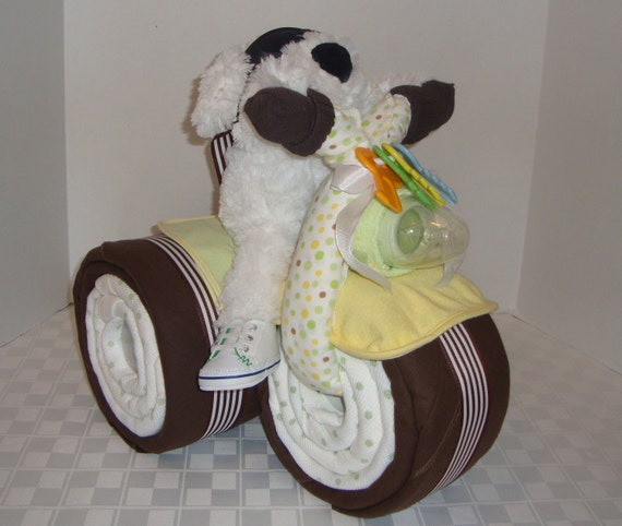 Similar to baby gift baby cake tricycle trike diaper cake baby