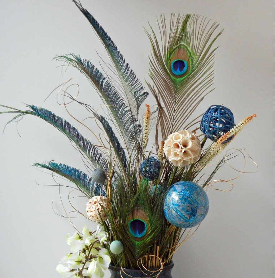 Floral Arrangements Peacock Arrangement By RachelsHeart
