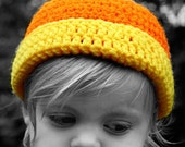 Candy Corn beanie - all sizes - made to order