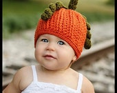 Pumpkin Spice Crochet Hat PDF - Instructions to make in any size