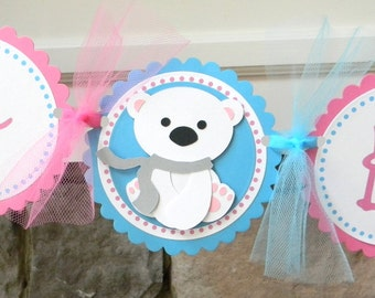 "Polar Bear ""Happy Birthday"" Party Banner"