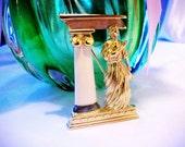 Rare Trifari Greek goddess brooch