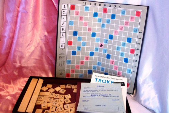 1953 Scrabble game -  complete